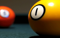 my start point the photo of two poolballs on a table