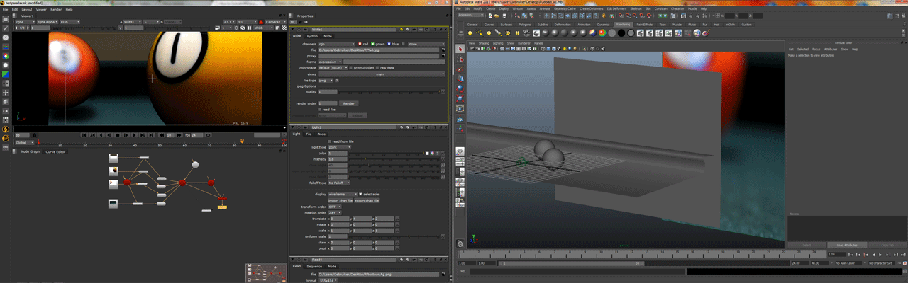 maya / nuke workspace example